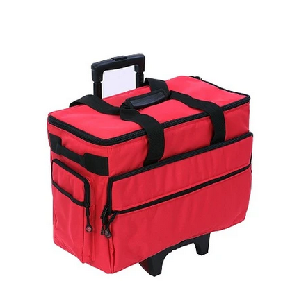 19 Wheeled Sewing Machine Carrier, TB19 - Red