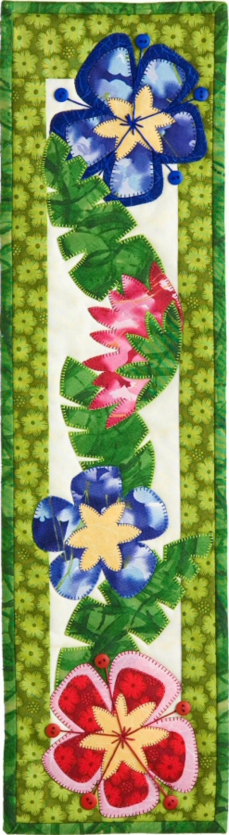P123 Hibiscus wall hanging pattern