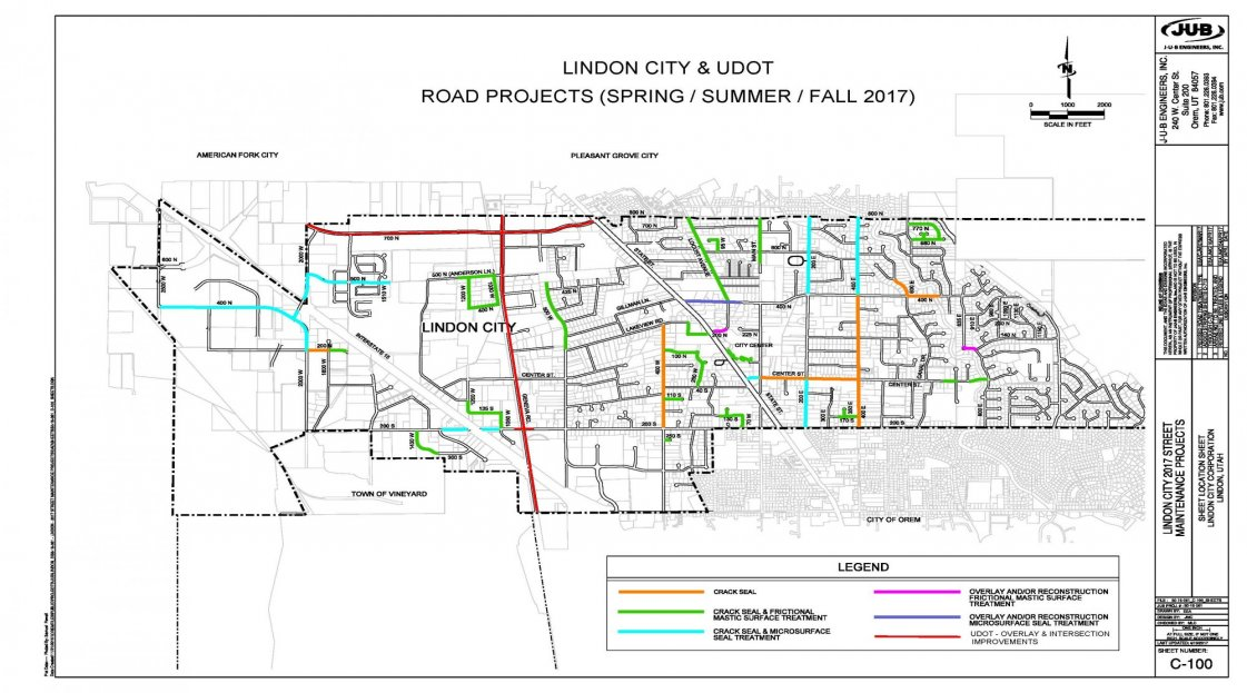 Lindon City Road Projects