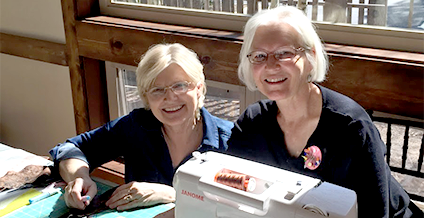 Spring quilting retreat 2015 at Taharaa Mountain Lodge