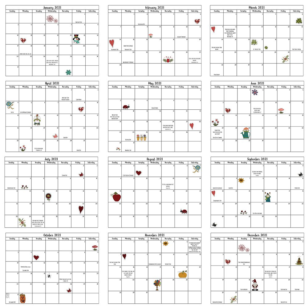 2021 Buzy Dayz Caboodle Calendar Pack (2 color options)