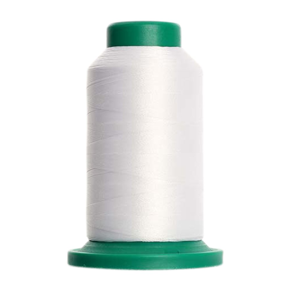 15 - White Isacord Embroidery Thread 1000M