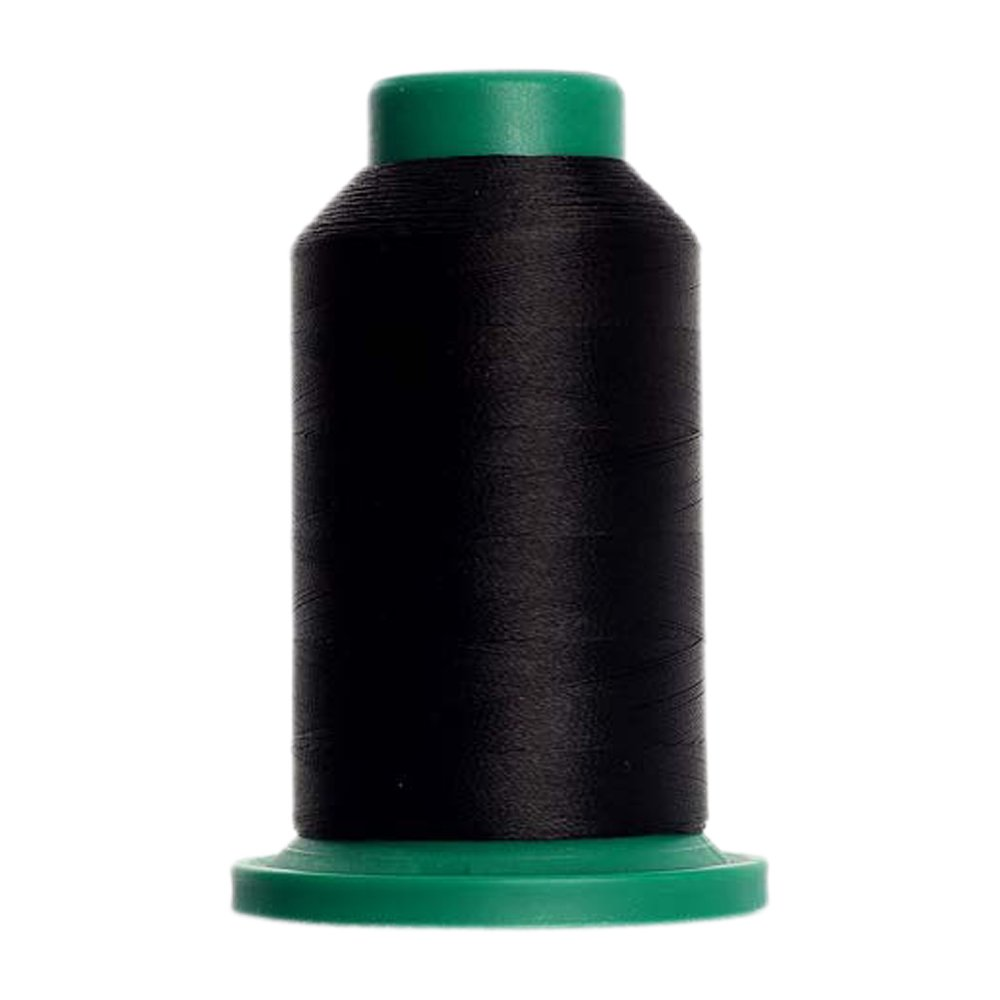 20 - Black Isacord Embroidery Thread 1000M