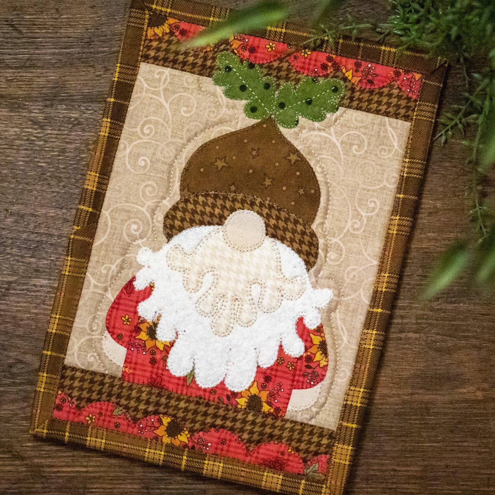 Acorn Gnome Mug Rug Kit