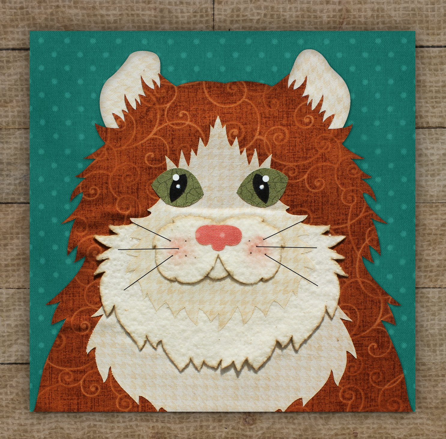 American Curl Cat Precut Fused Applique Kit