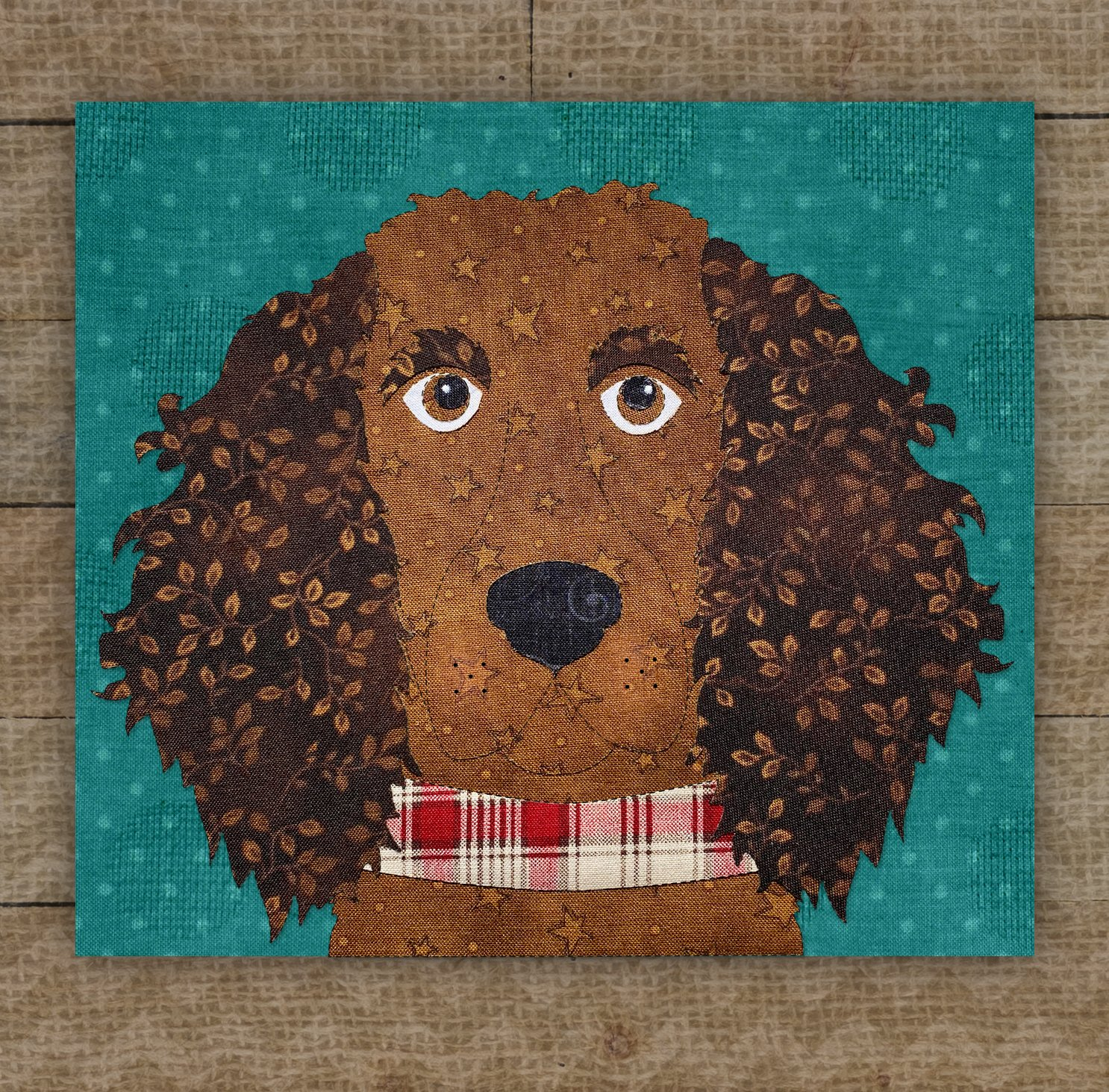 American Water Spaniel / Boykin Spaniel Precut Fused Applique Kit