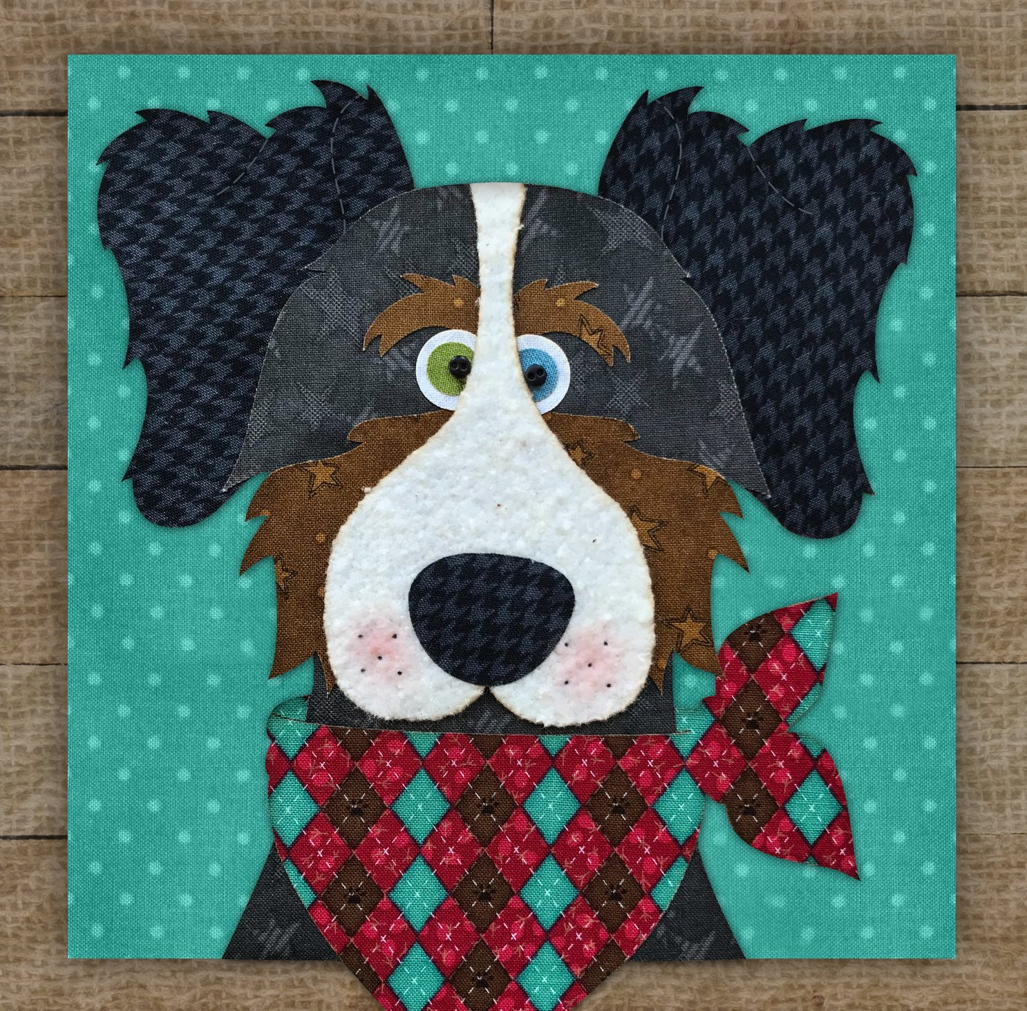 Australian Shepherd Precut Fused Applique Kit