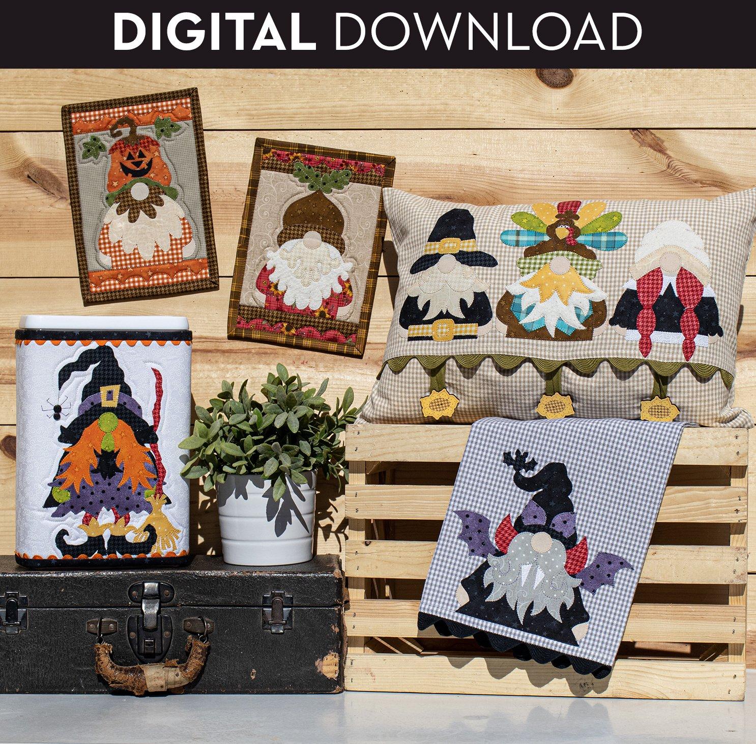 Autumn Gnomes Pattern - Download