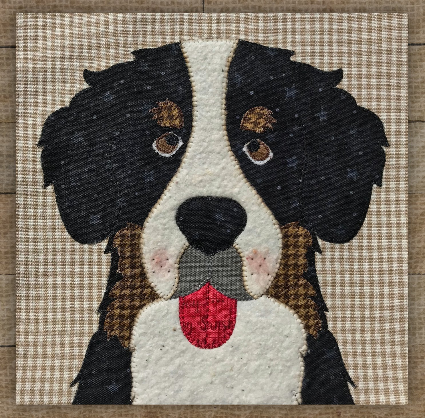 Bernese Mountain Dog - Precut Fused Applique Kit