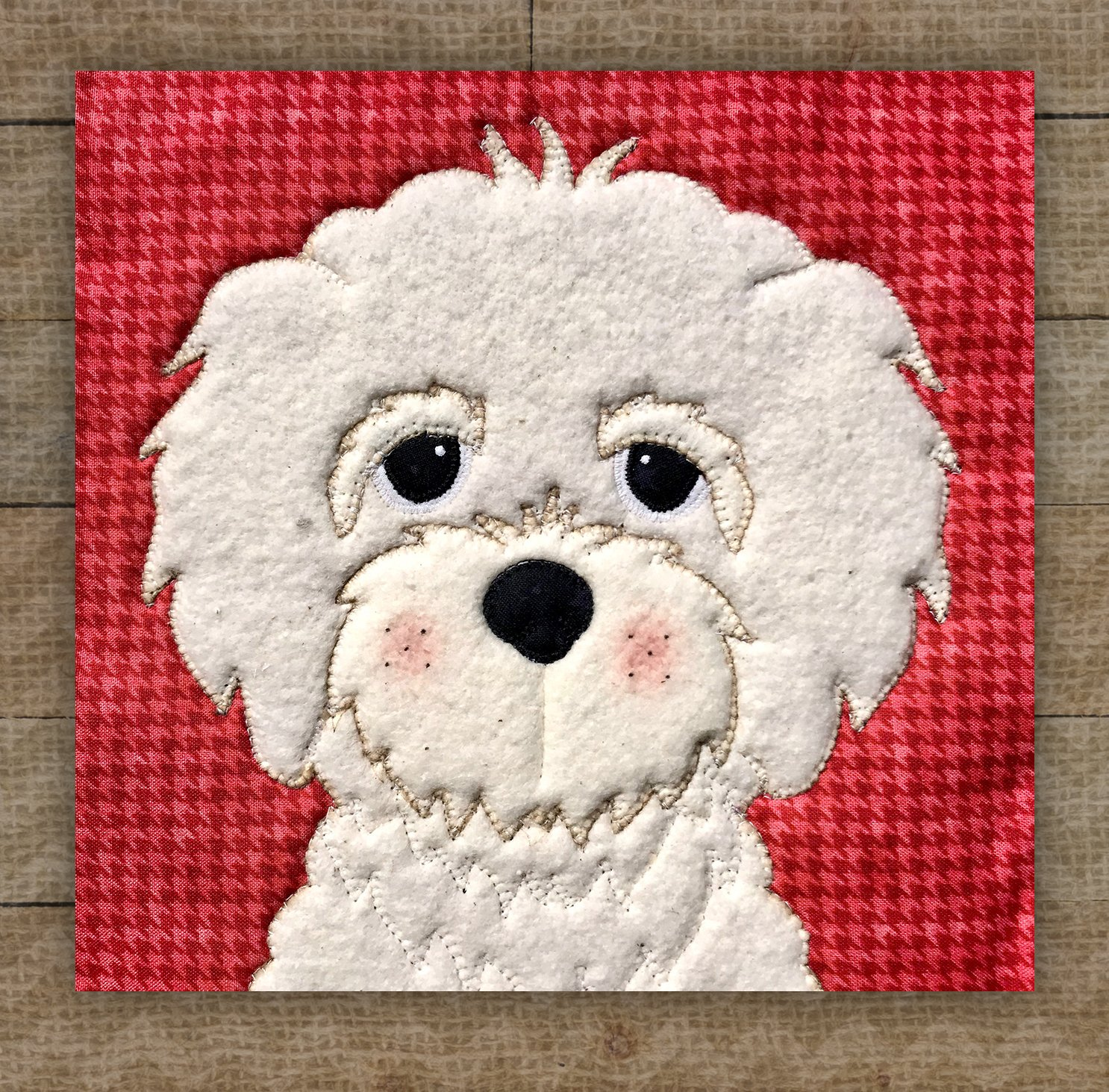 Bichon Precut Fused Applique Kit