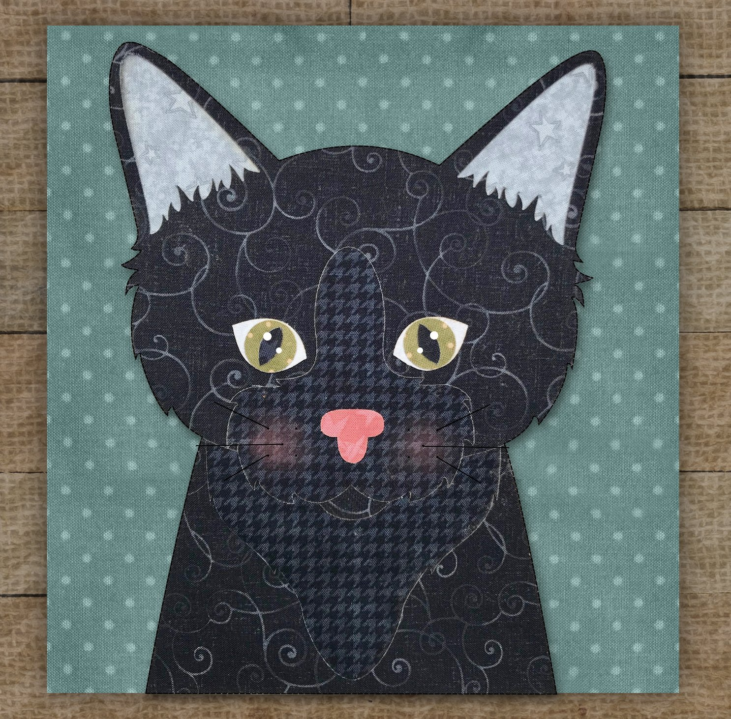 Bombay Cat Precut Fused Applique Kit