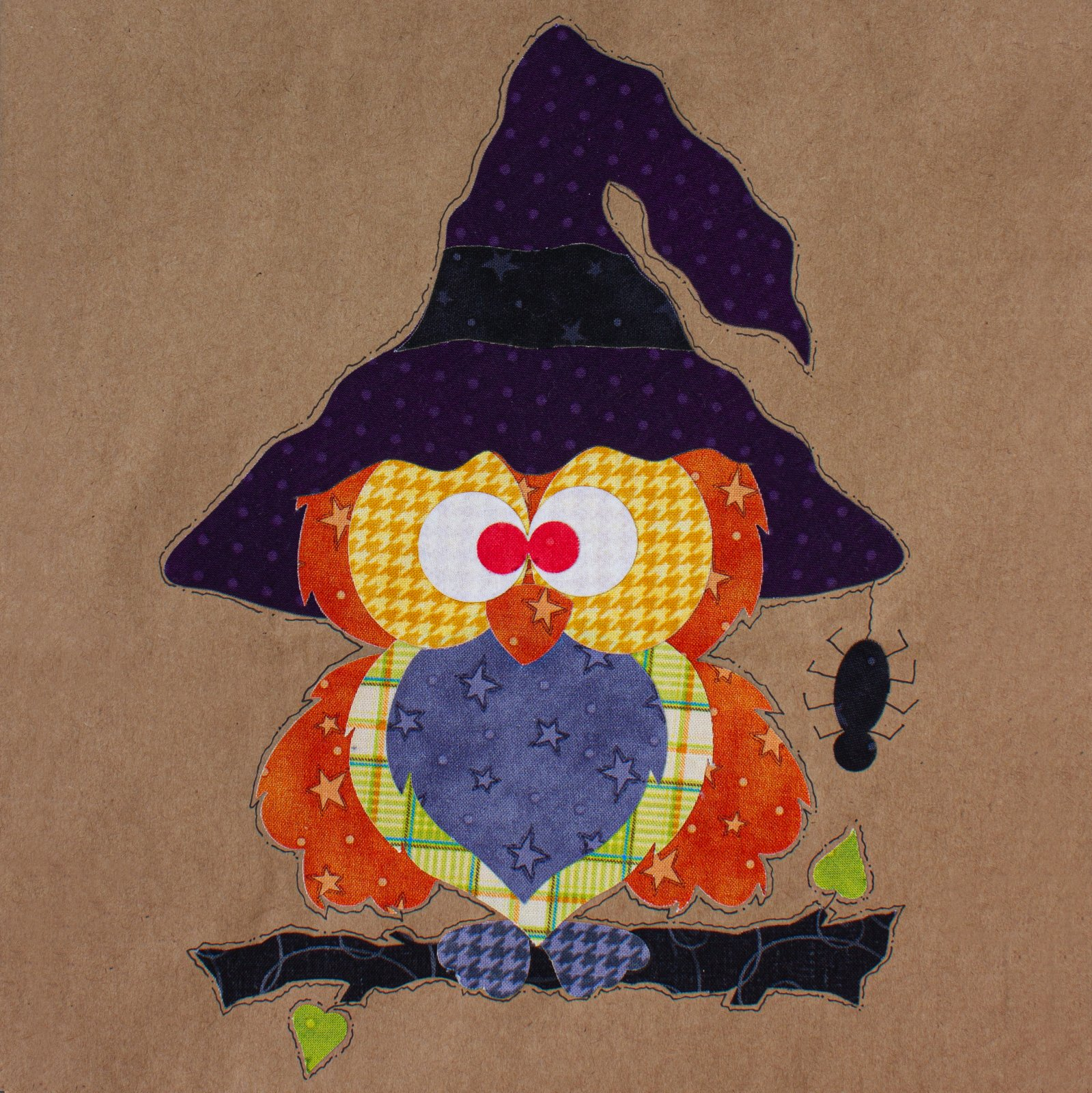 Boo Hoo Owl Precut Fused Applique Kit