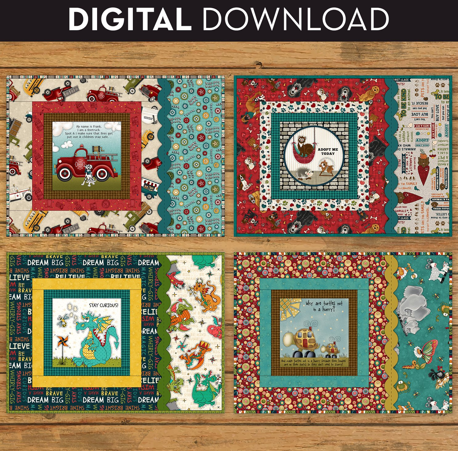 Book Panel Placemat Pattern - Download