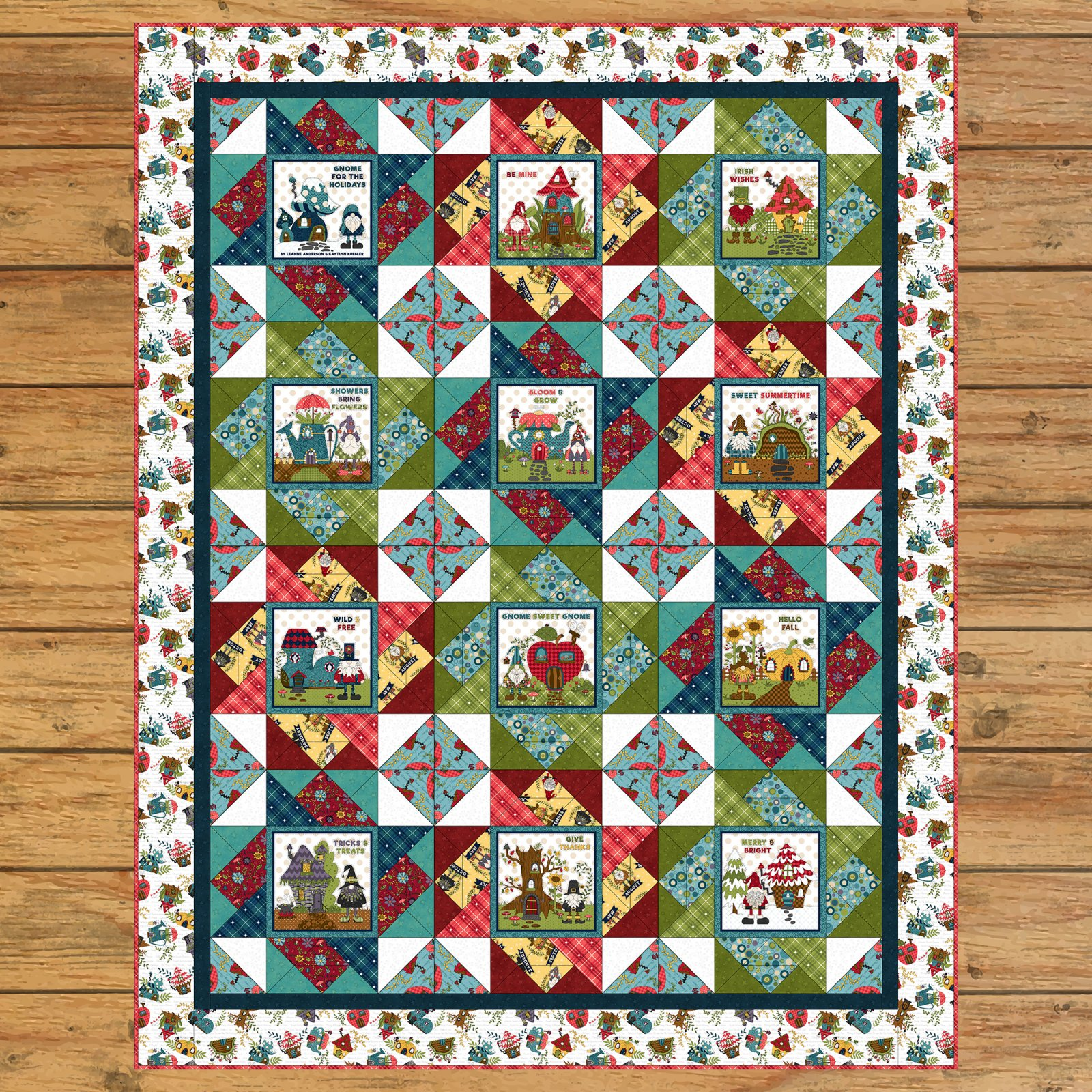 Gnome for the Holidays Book Panel Quilt Kit