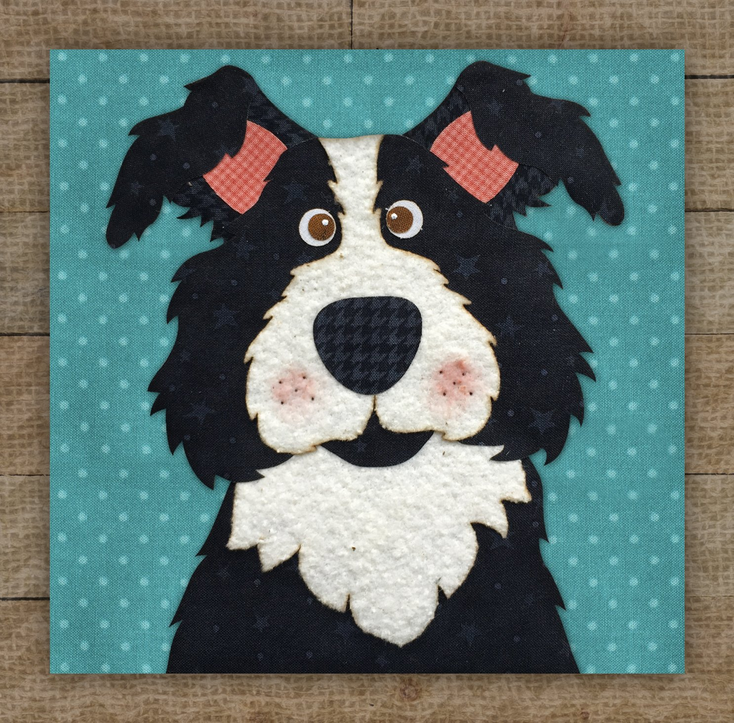 Border Collie Precut Fused Applique Kit