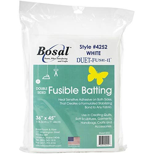 Bosal Duet Fuse II Double Sided Fusible Batting 36in x 45in