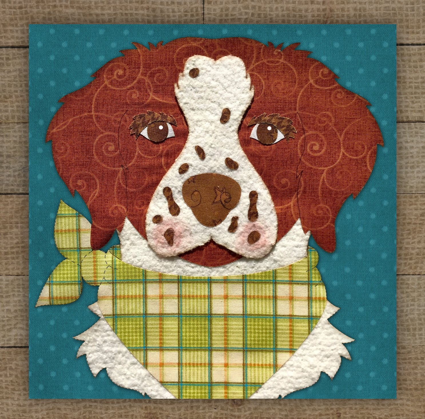 Brittany Spaniel Precut Fused Applique Kit