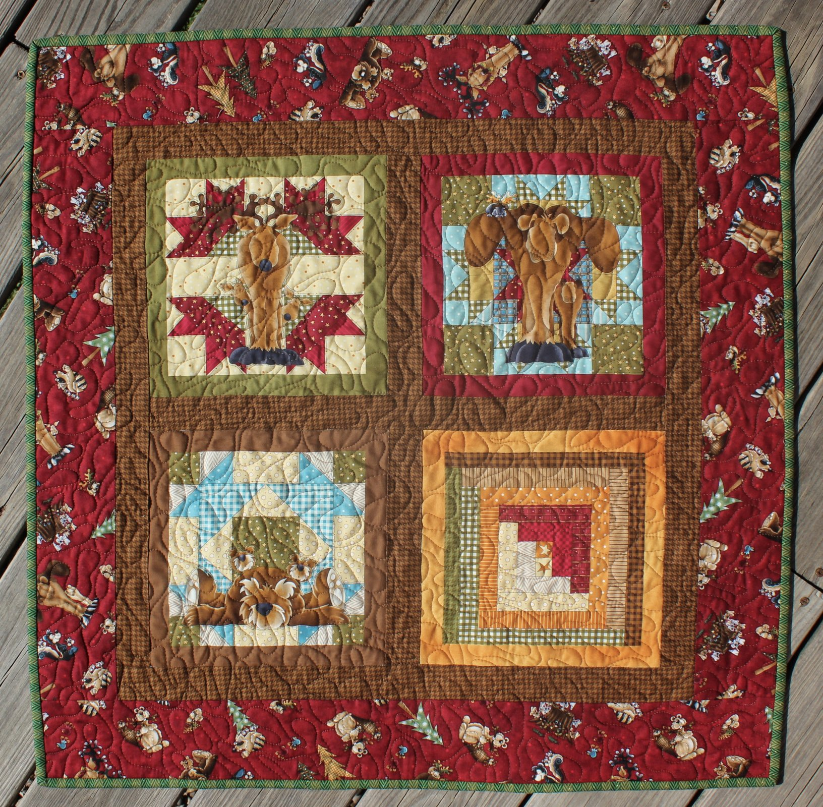 4 Block Northwoods Wall-Hanging