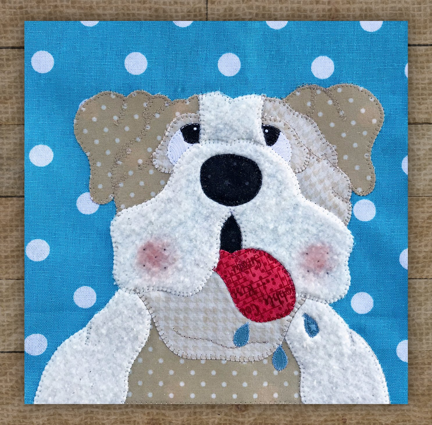 Bulldog Precut Fused Applique Kit