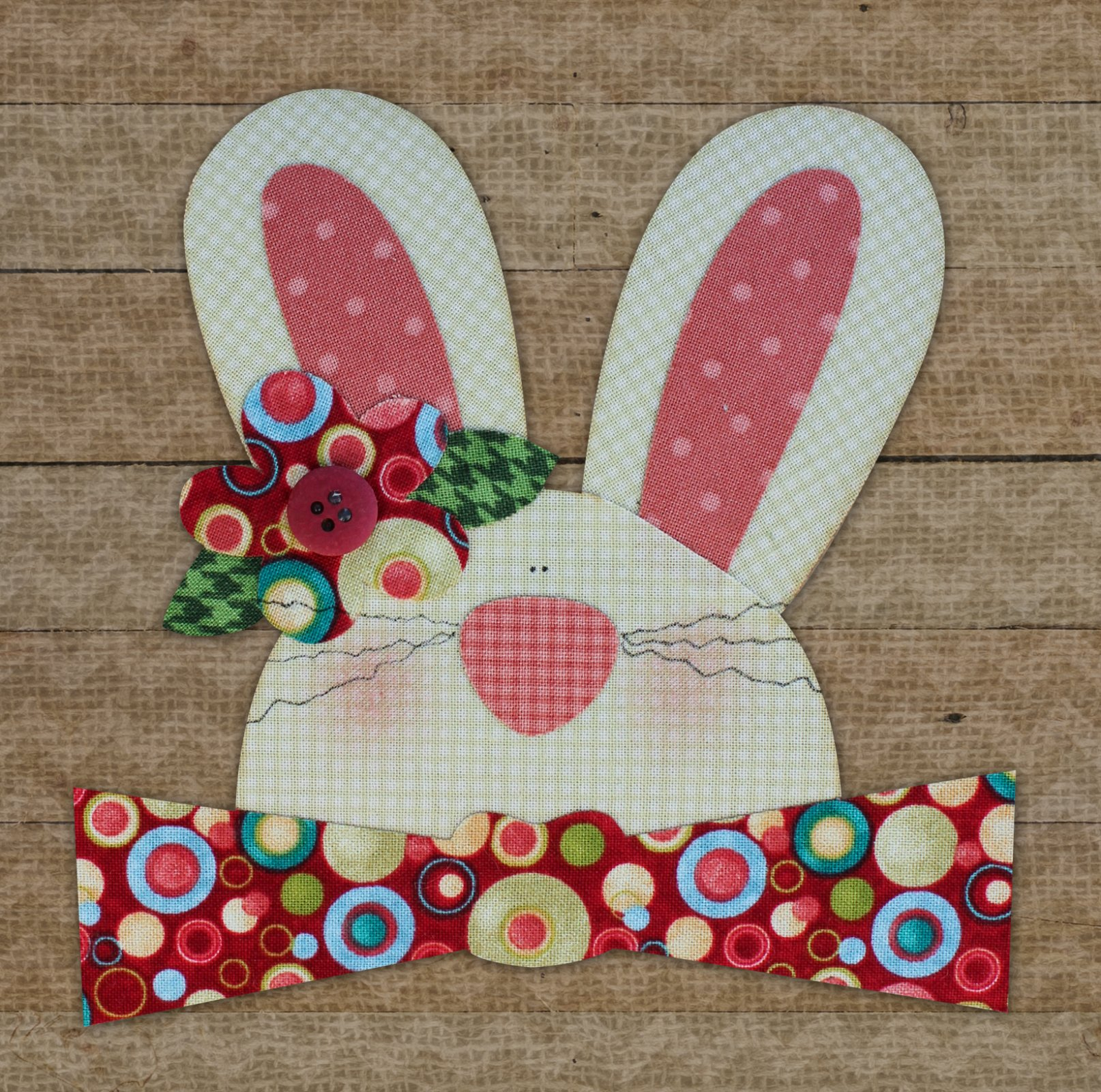 Bunny Precut Fused Applique Kit