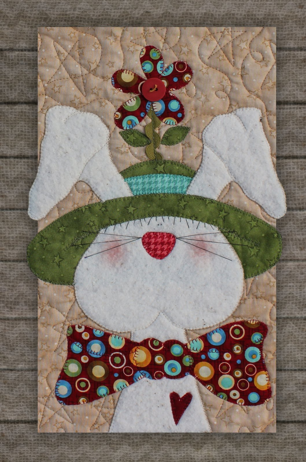 Bunny with Hat Precut Fused Applique Kit