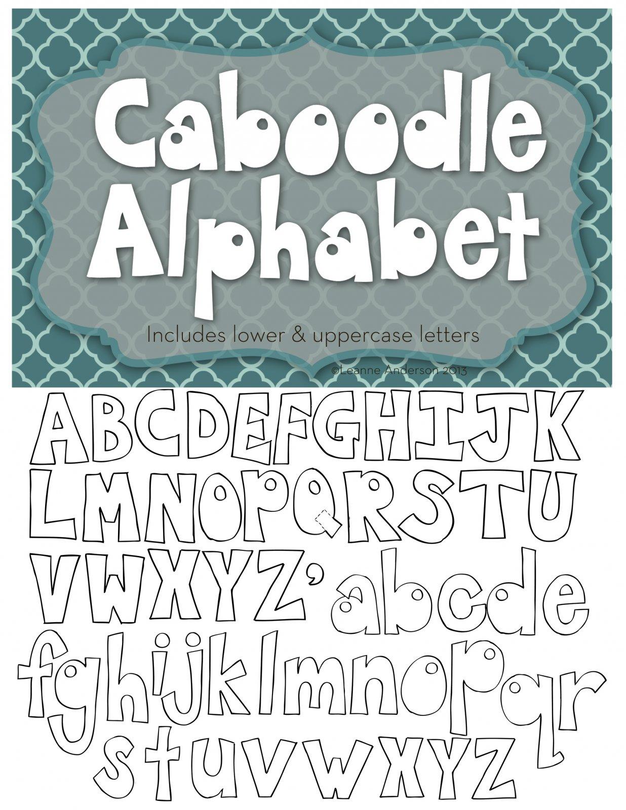 Caboodle Alphabet
