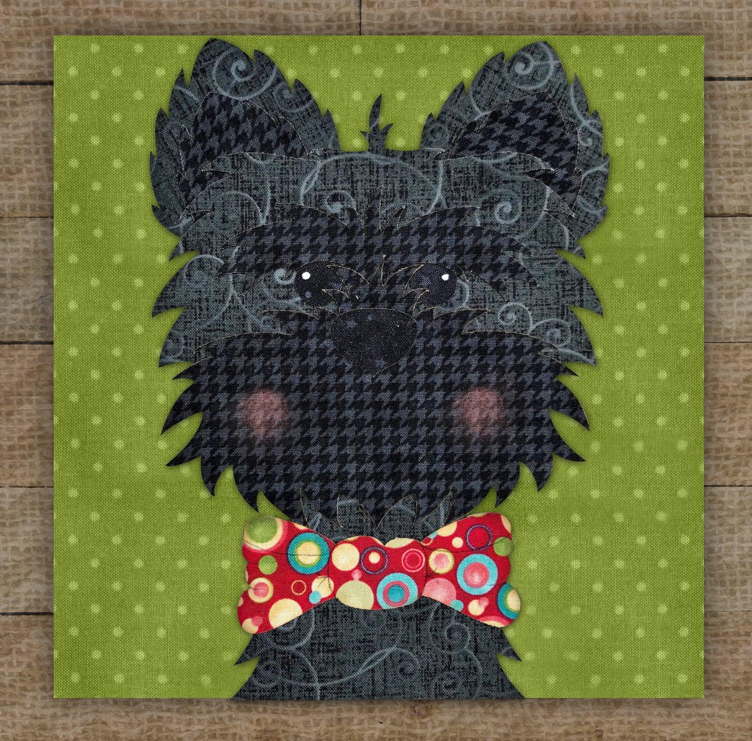 Cairn Terrier (Black) Precut Fused Applique Kit