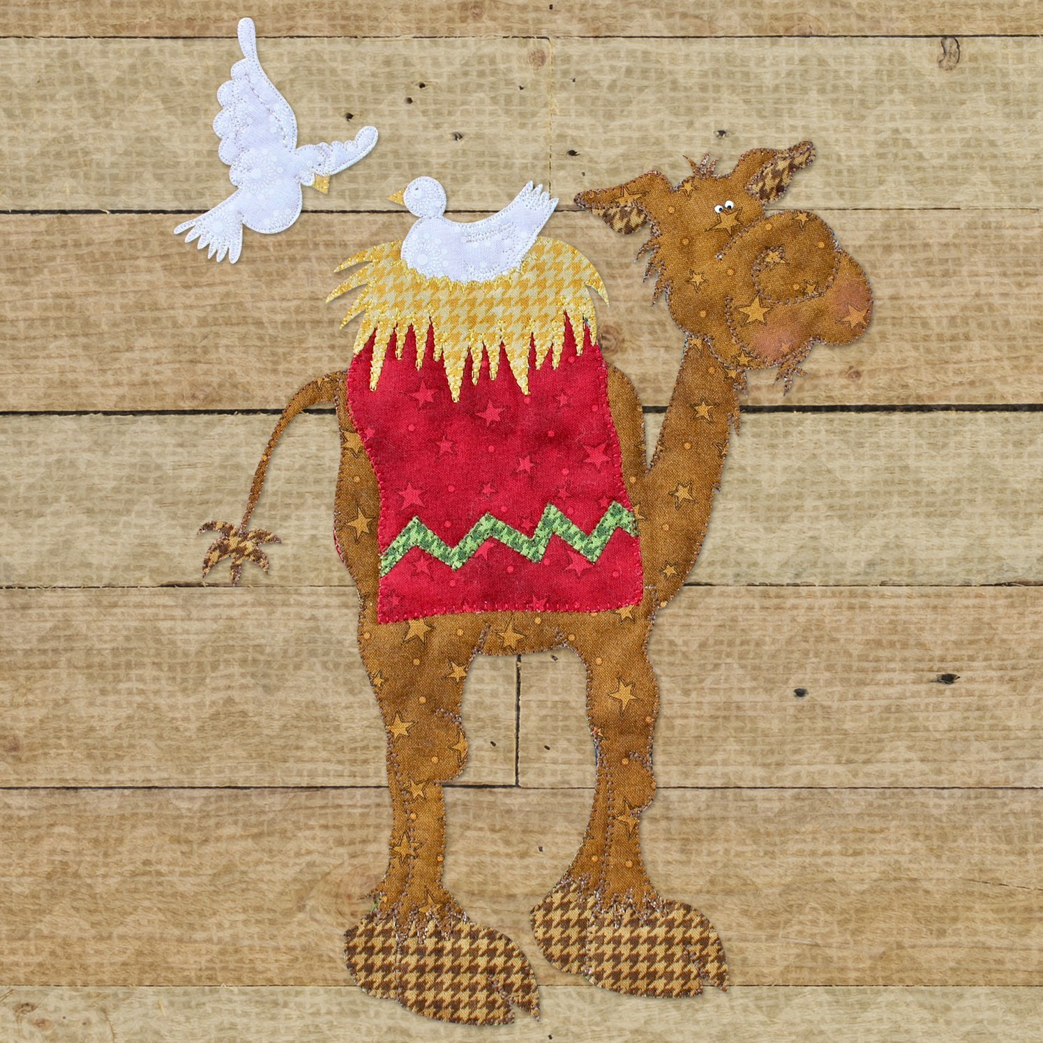 Camel & Doves Precut Fused Applique Kit