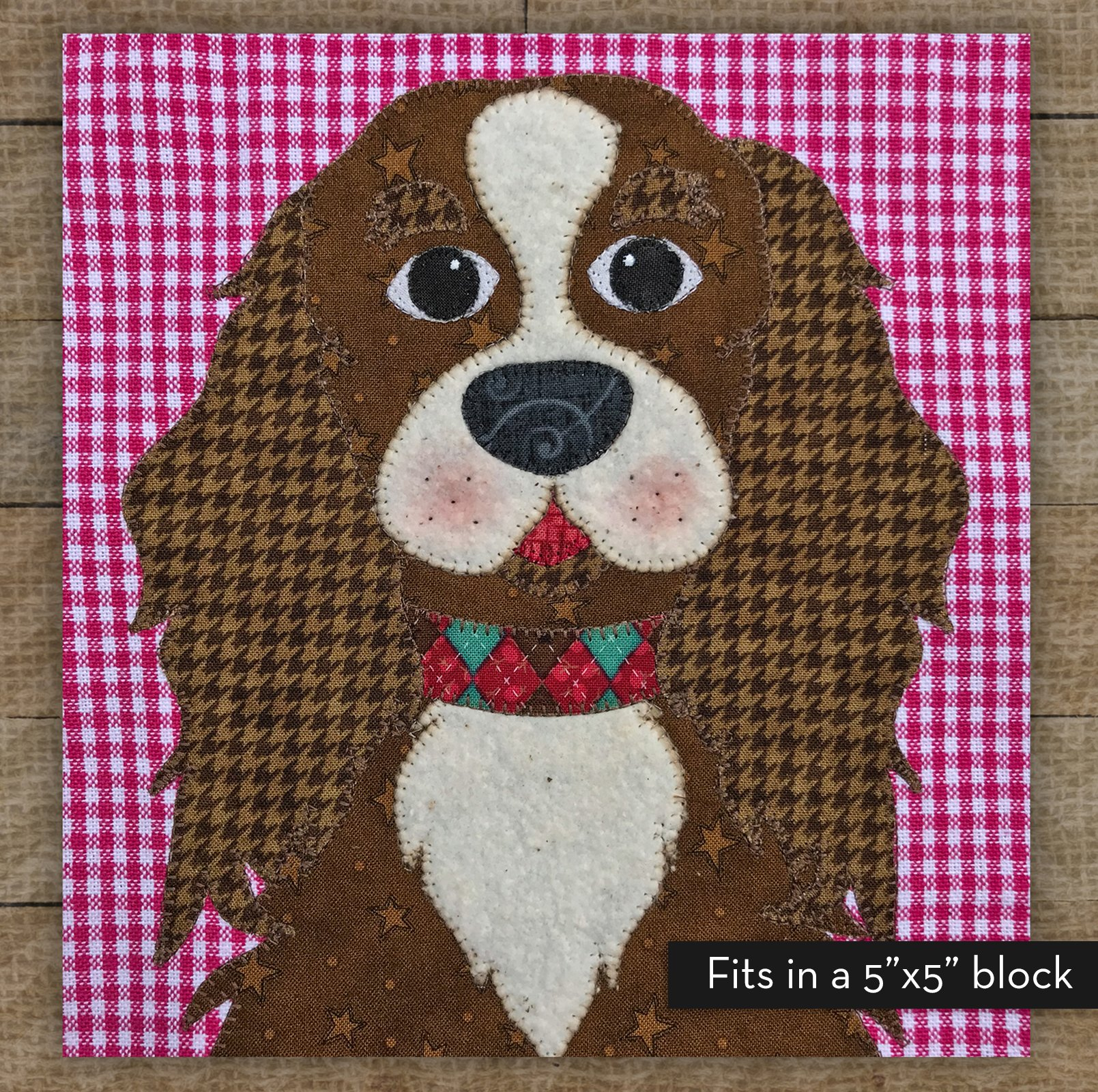 Small Cavalier King Charles (Brown) - Precut Fused Applique Kit