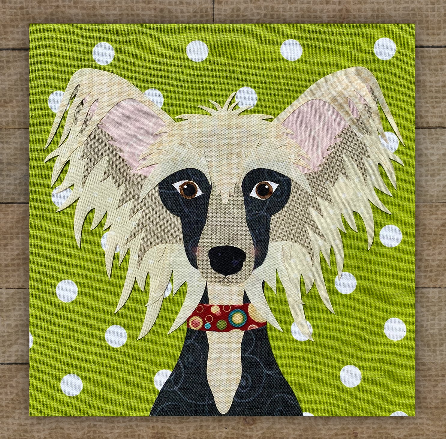 Chinese Crested Precut Fused Applique Kit