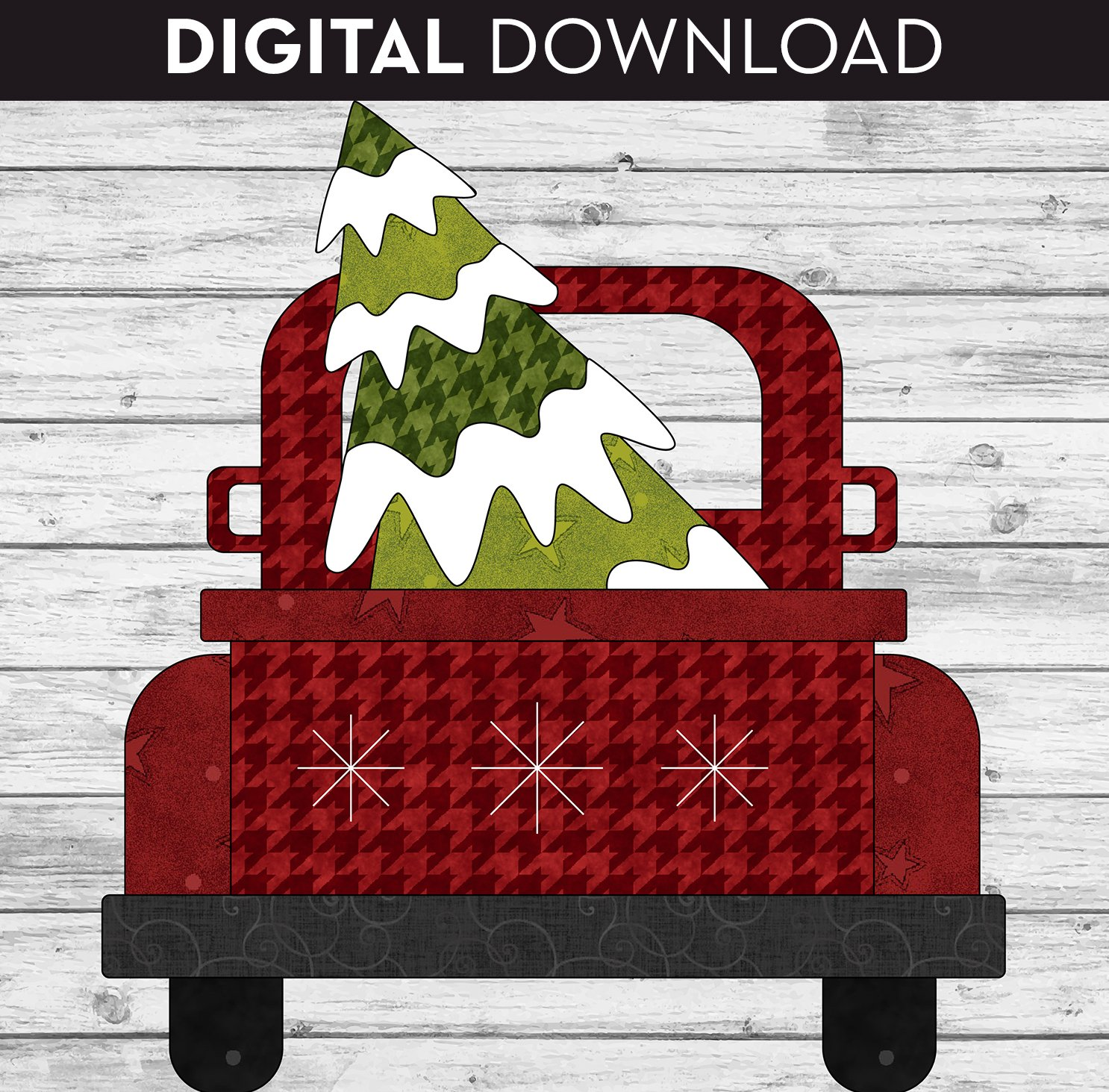 Christmas Truck Pattern - Download