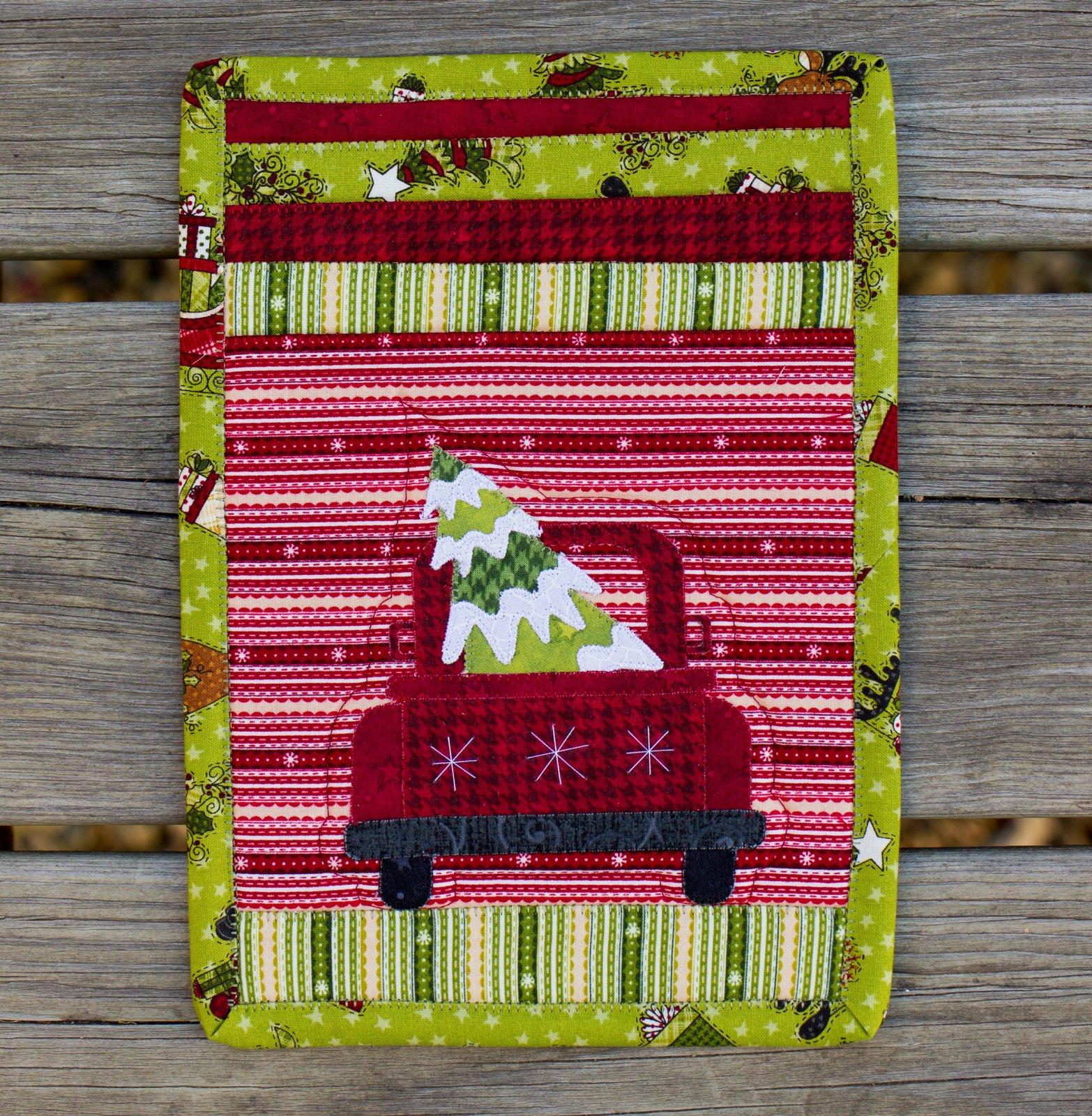 Christmas Truck Mug Rug Kit