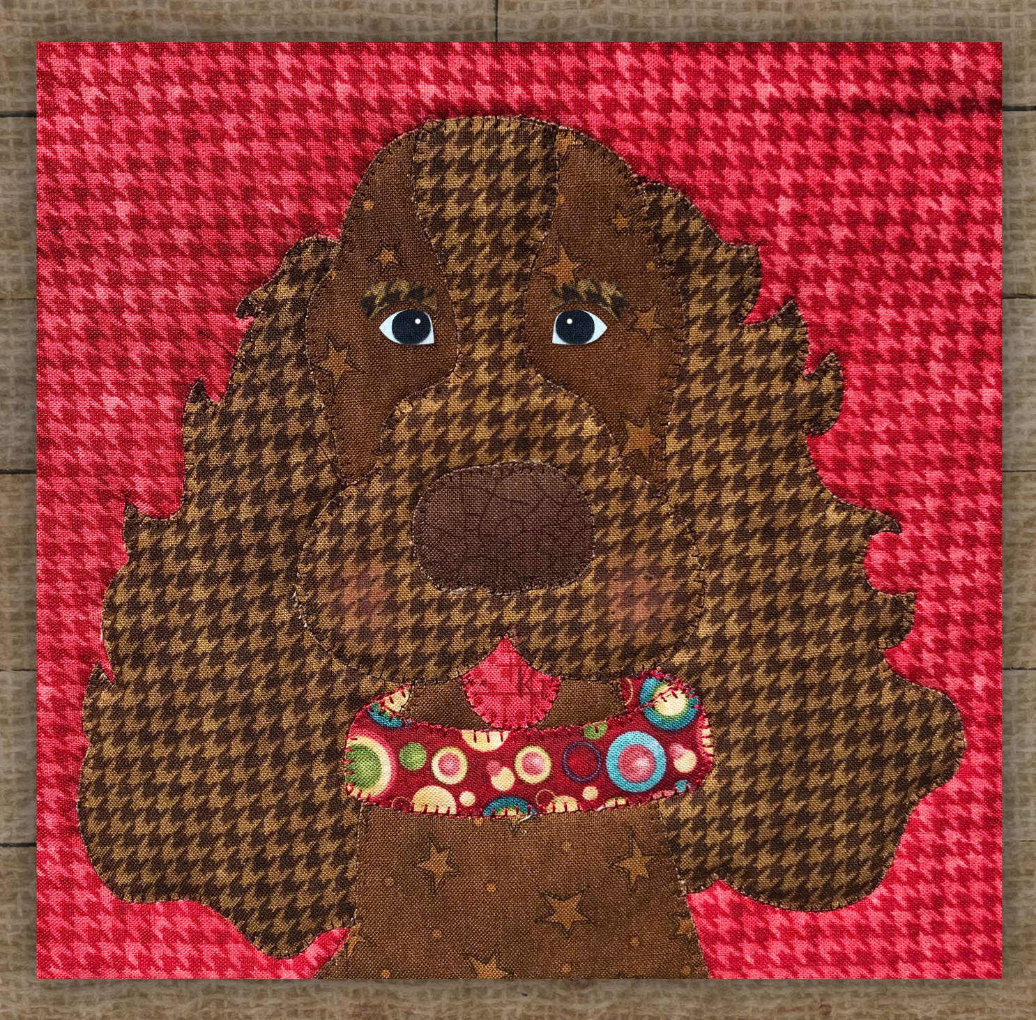 Cocker Spaniel Brown - Precut Fused Applique Kit