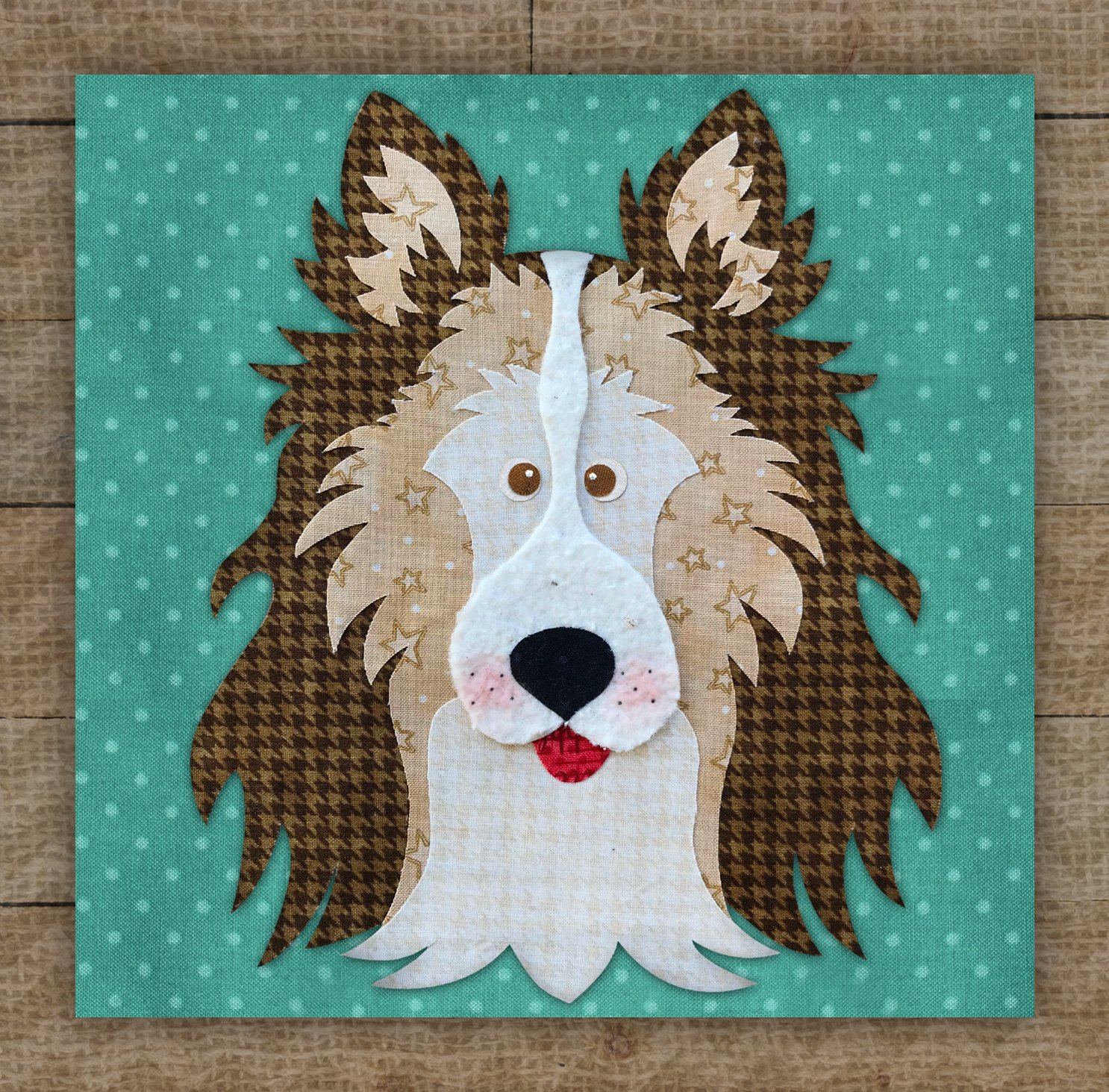 Collie / Sheltie Brown Precut Fused Applique Kit