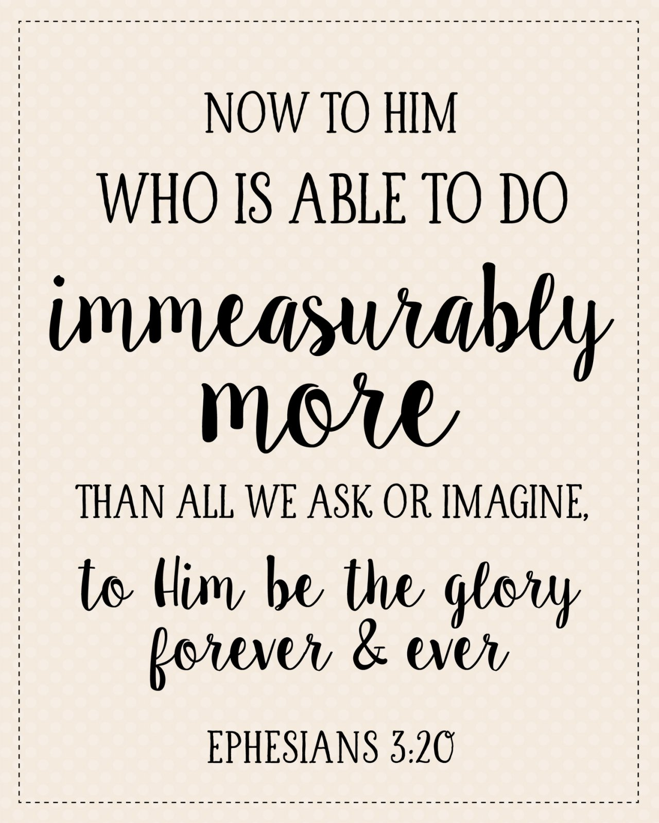 S-4: Now to Him who is able...