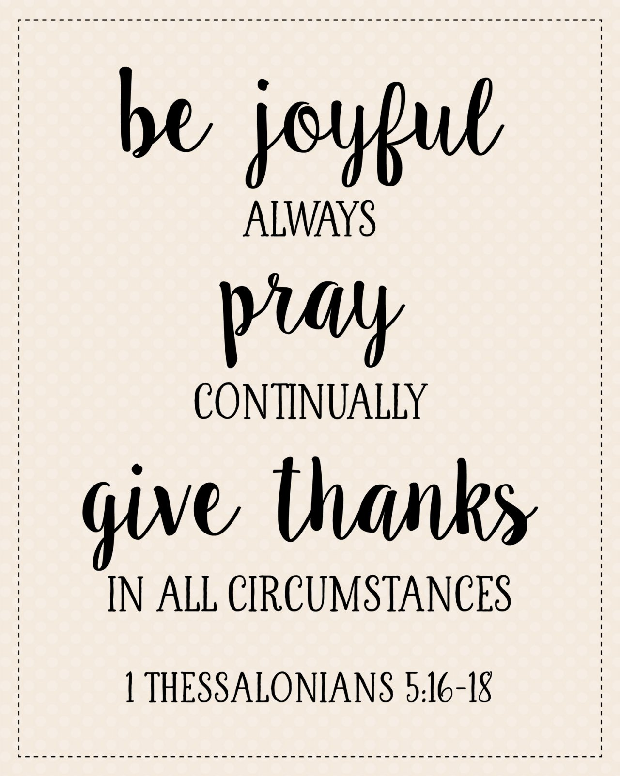 S-6: Be joyful always...