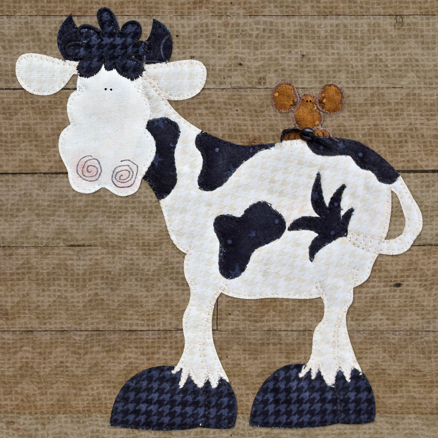Cow & Mouse Precut Fused Applique Kit