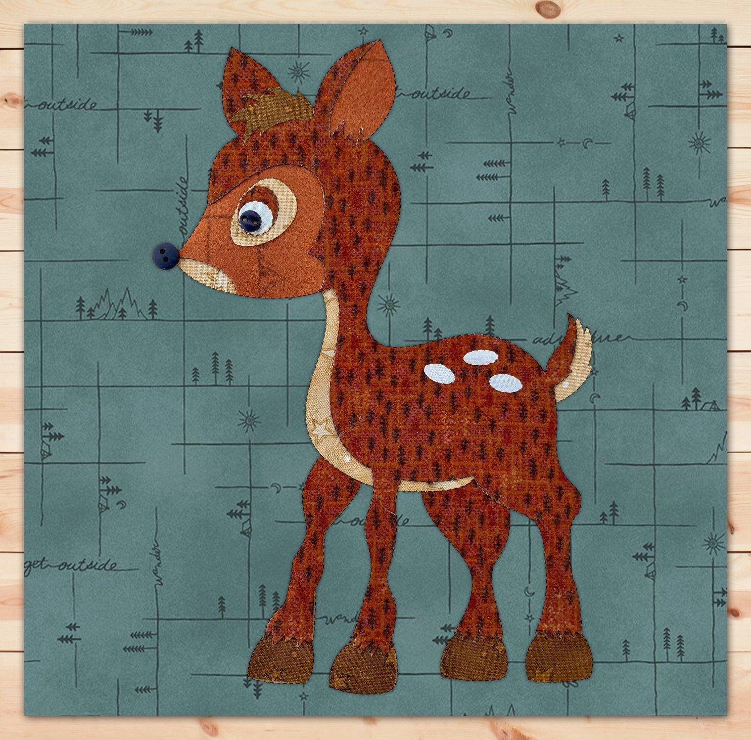 Deer Flannel Precut Applique