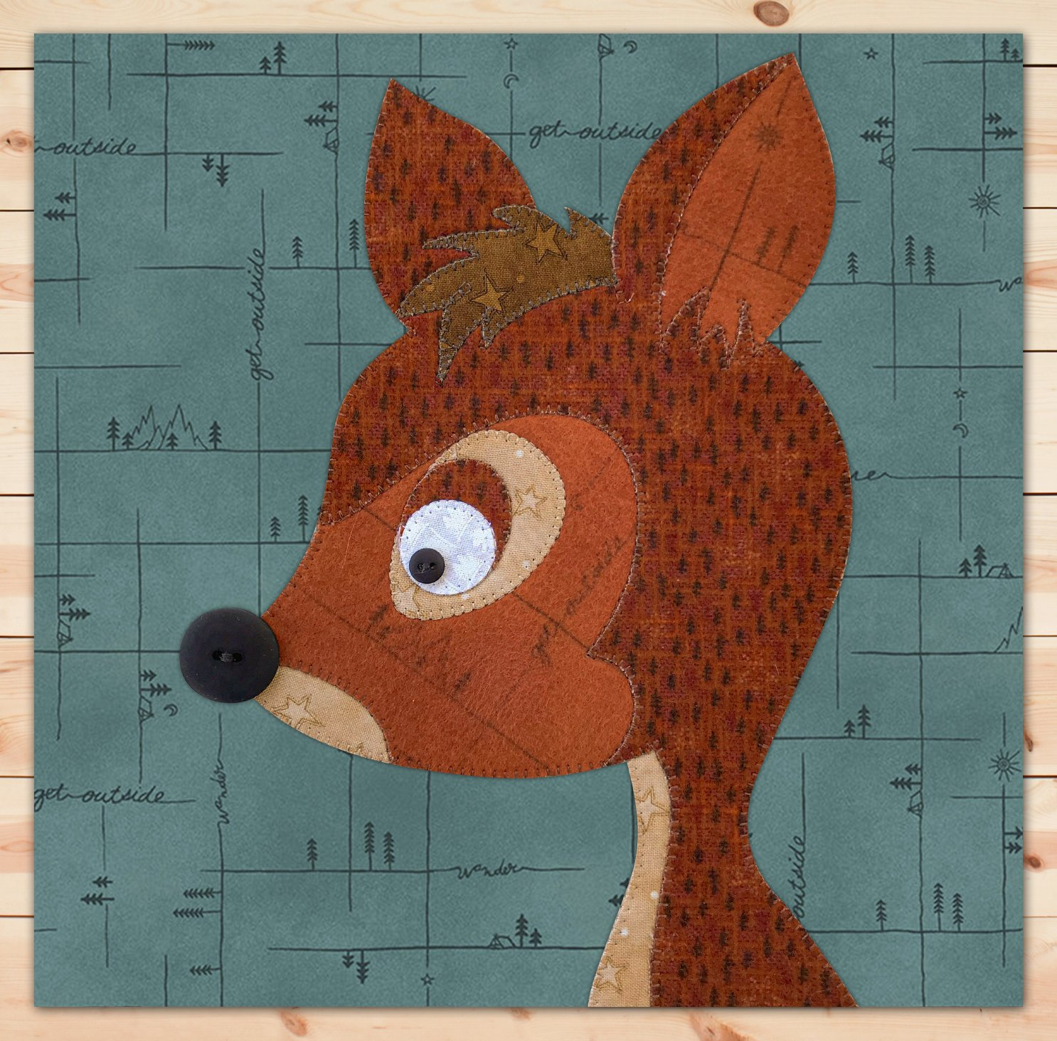 Deer (Large) Flannel Precut Applique