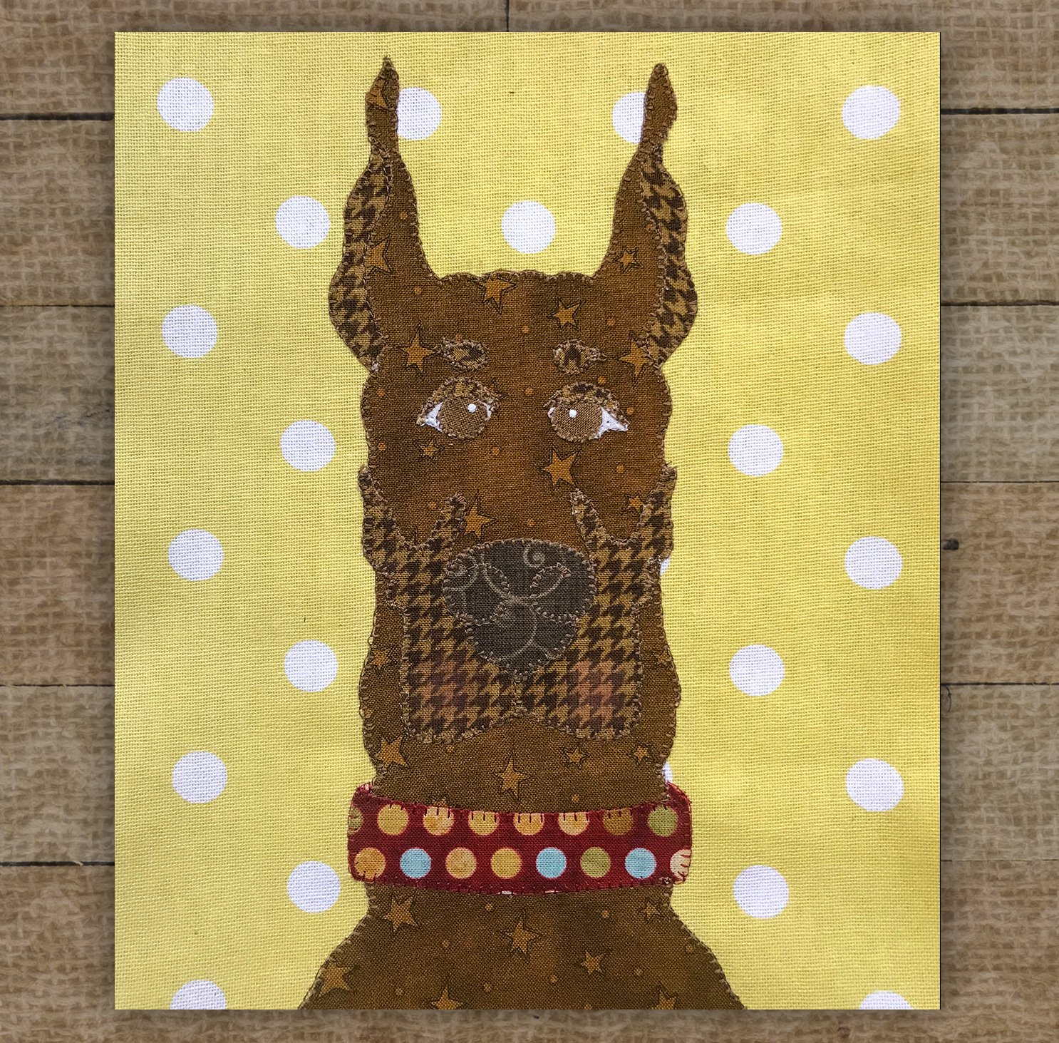 Doberman Pinscher Brown - Precut Fused Applique Kit