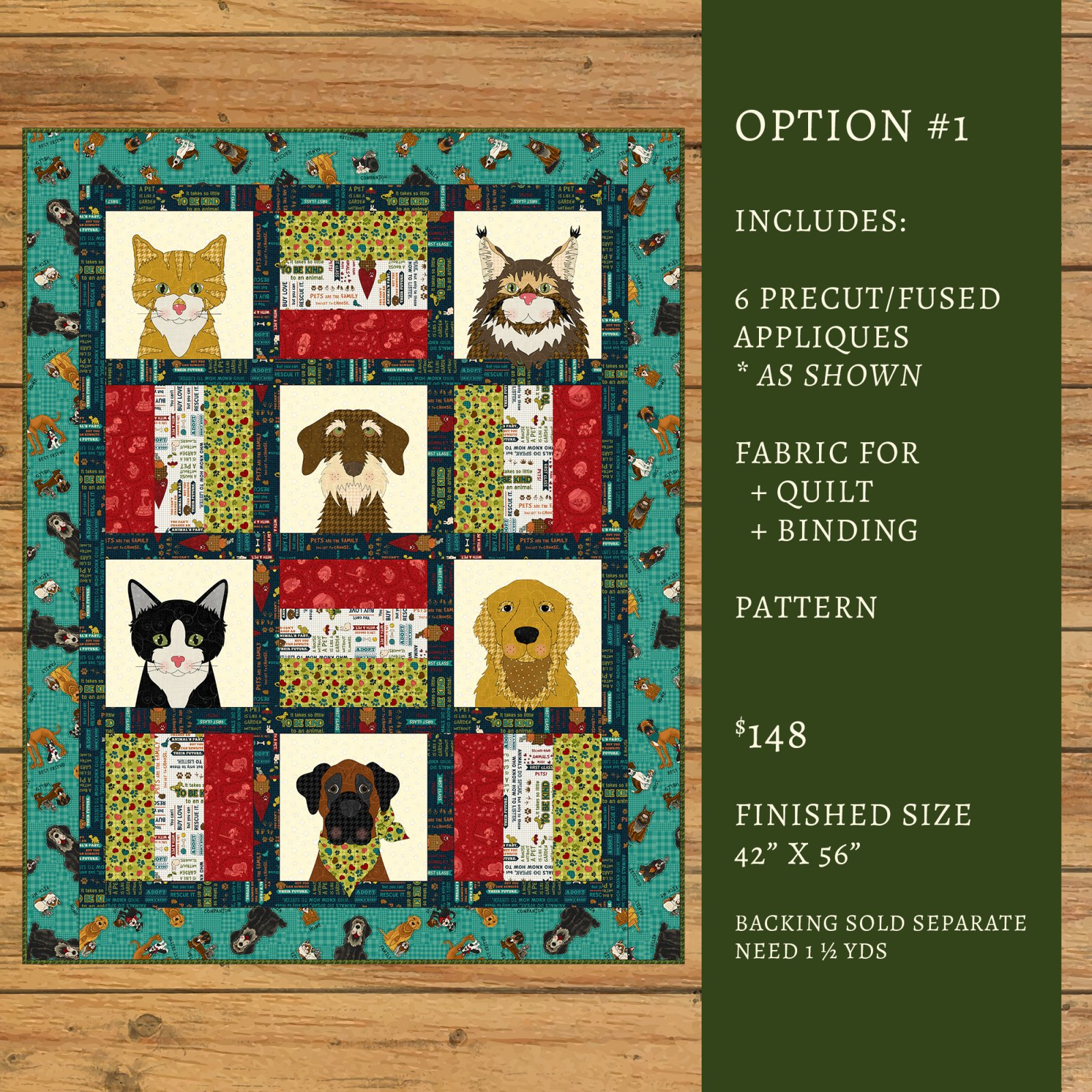 Dog & Cat Rescue Quilt Kit