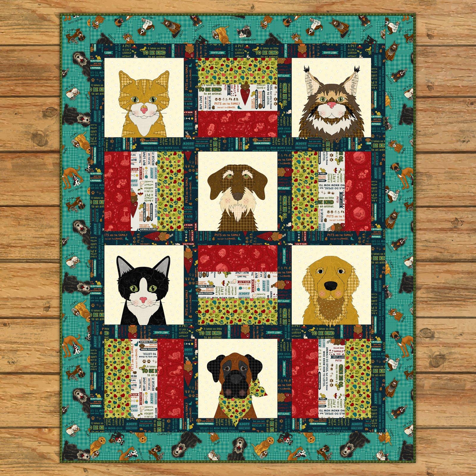 Dog & Cat Rescue Quilt Kit