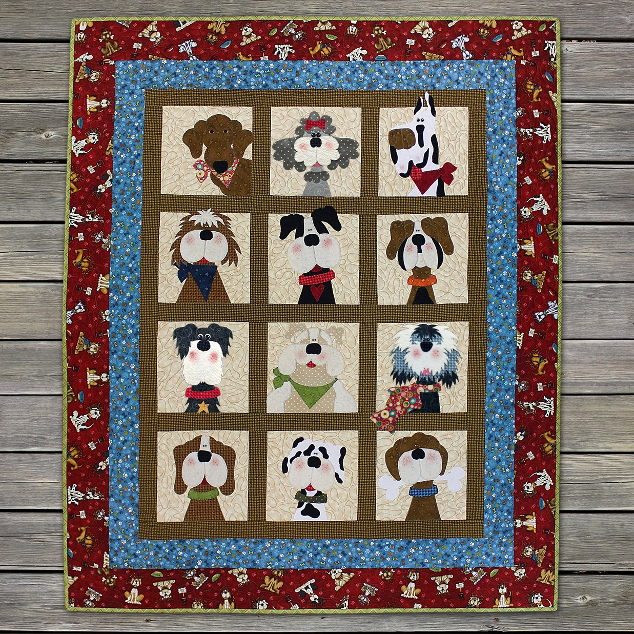 Dog Gone Cute Precut Fused Applique Kit