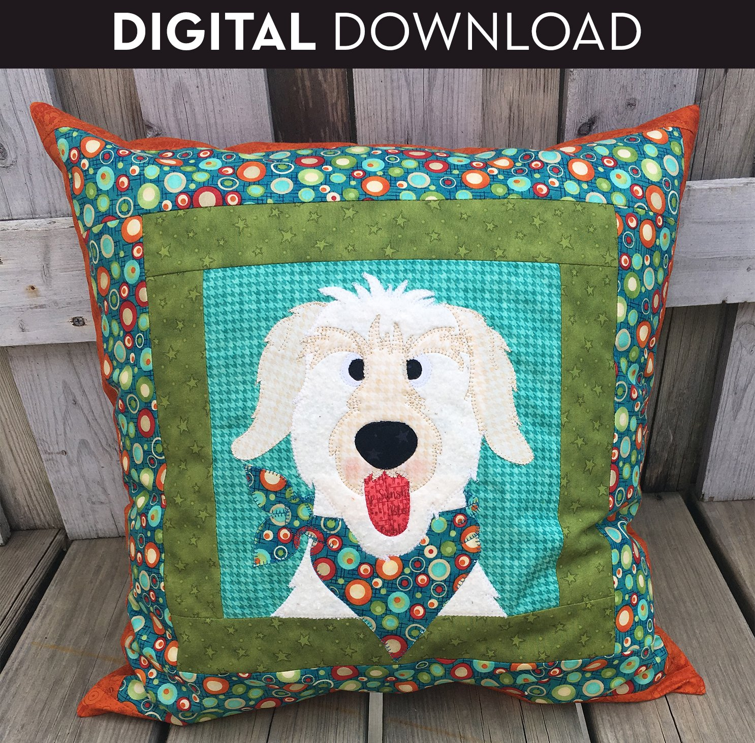Dog Pillow - Download (Applique not included)