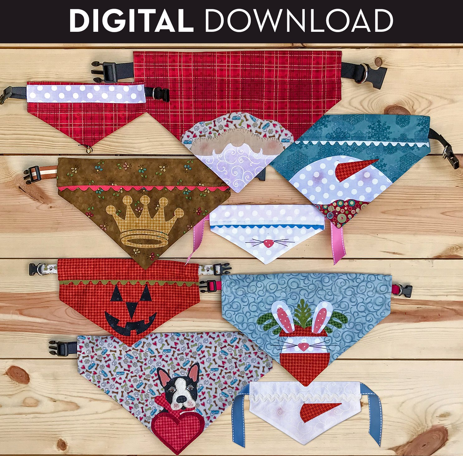Doggy Bandana Collar Covers - Download