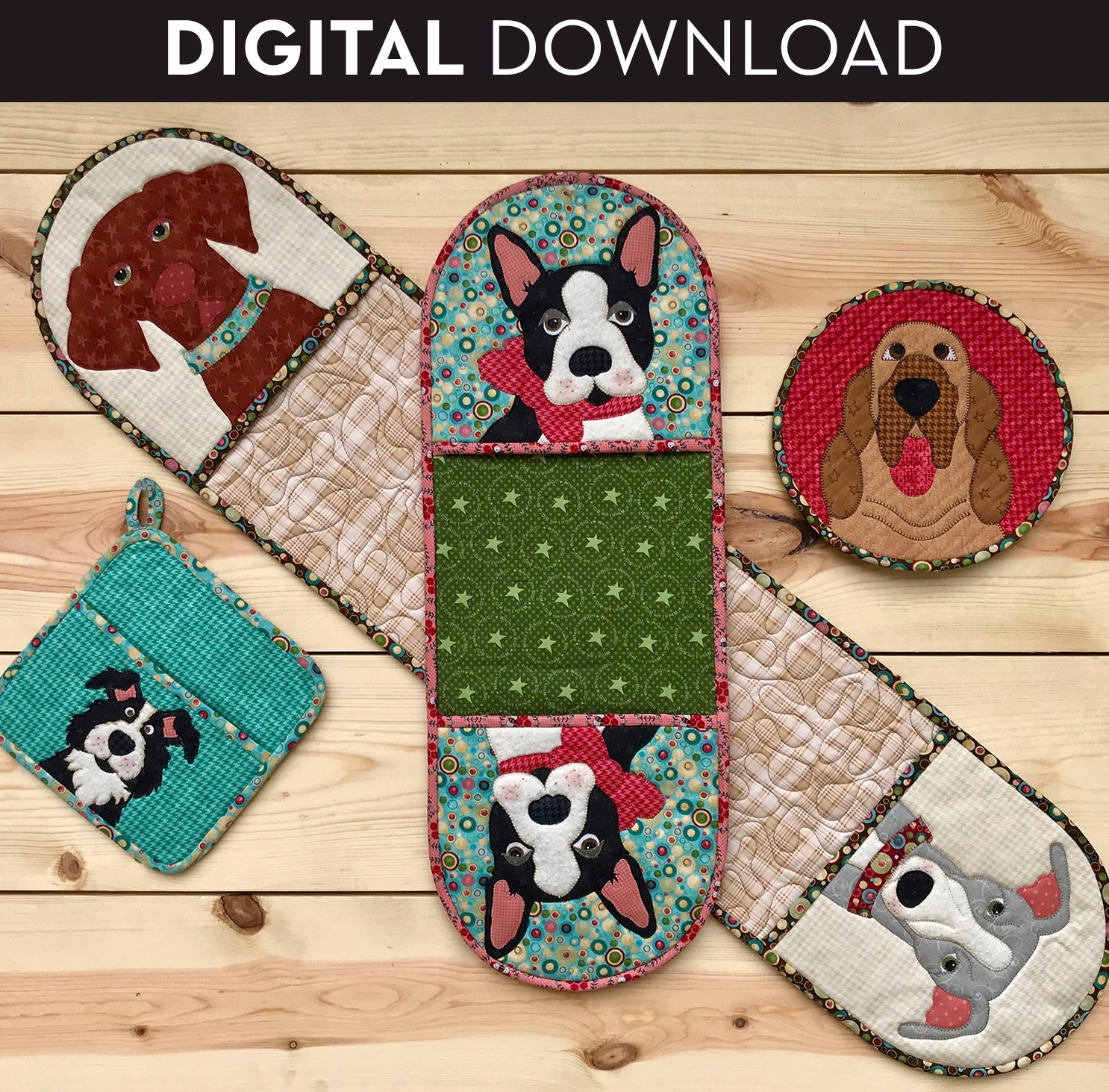 Doggy Hot Pads - Download (Appliques not included)