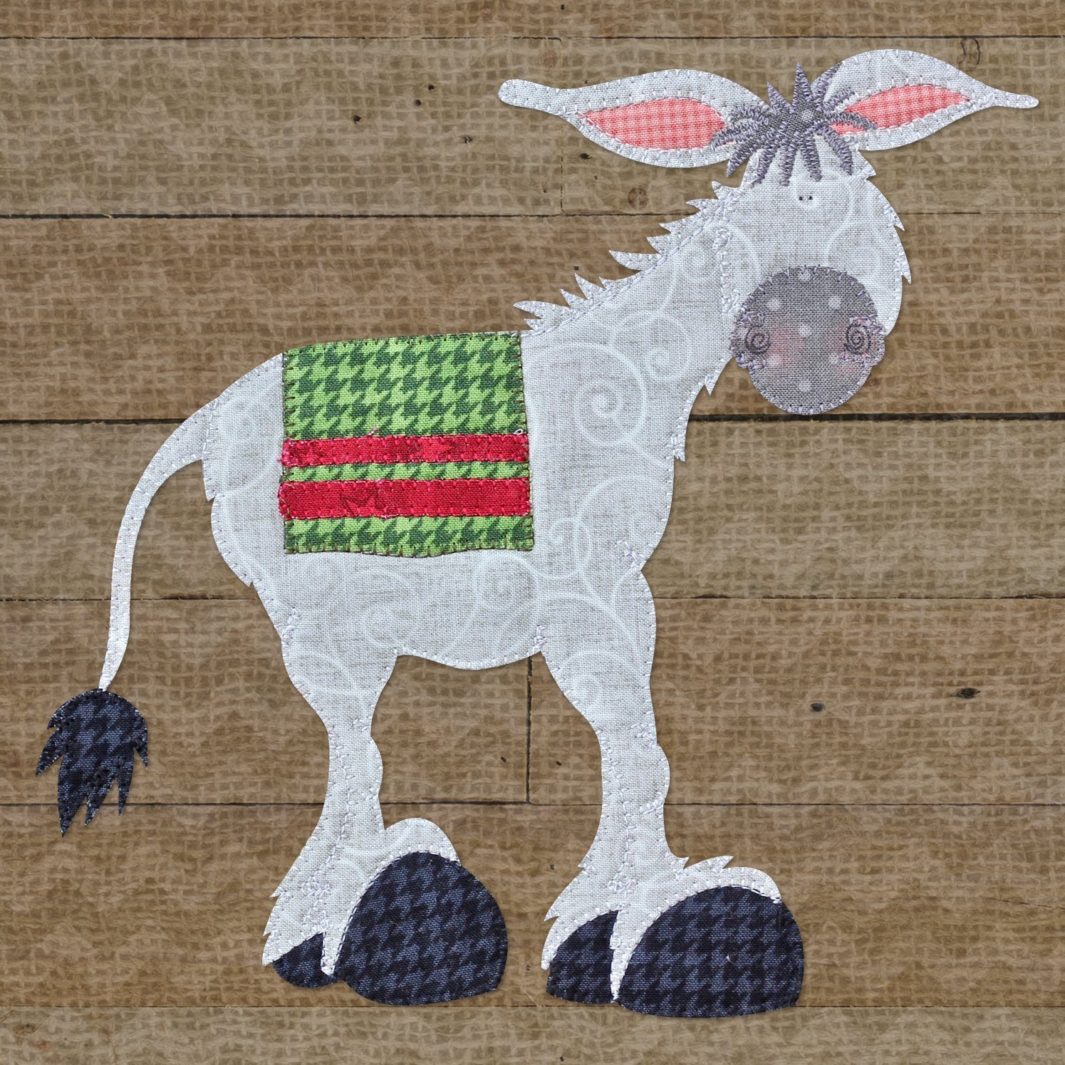 Donkey Precut Fused Applique Kit