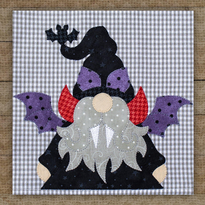 Dracula Gnome Precut Fused Applique Pack
