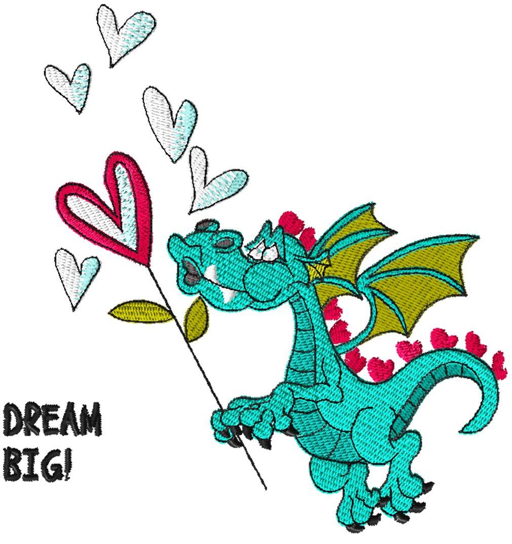 Dragon 13 Bubbles Dragon Embroidery - Download