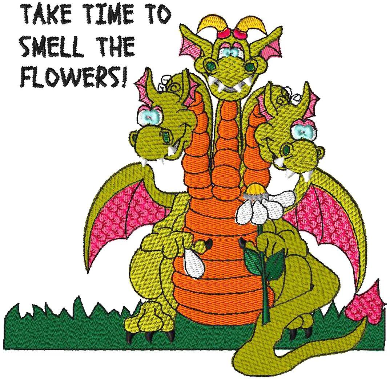 Dragon 4 3 Head Dragon Embroidery - Download